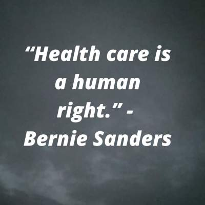 bernie sanders health care is a human right
