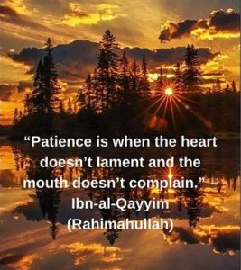 ibn qayyim quotes on patience with image