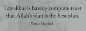 yasmin mogahed quotes tawakkul