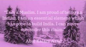 abul kalam azad quotes on building india