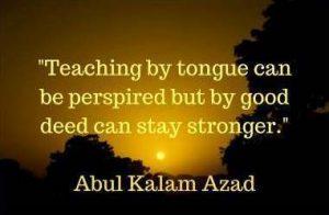 maulana abul kalam azad quotes on teaching