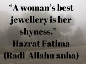 bibi fatima quotes on shyness