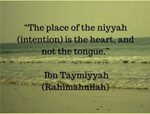 ibn taymiyyah quotes on intention