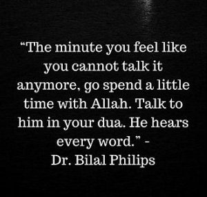 allah hears every dua dua and every word