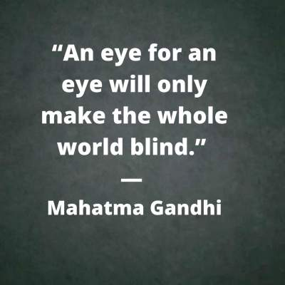 an eye for an eye quotes by mahatma gandhi