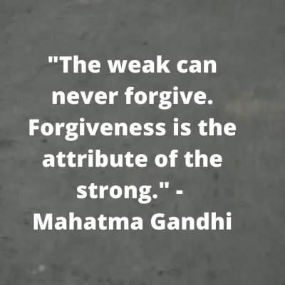 forgiveness quotes by mahatma gandhi