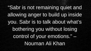 download nouman ali khan quotes on having sabr with picture
