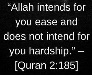 Read Quran quotes on ease