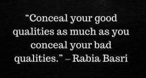 rabia basri quotes on conceal