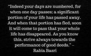 rabia basri sayings on life