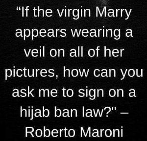 roberto maroni on hijab
