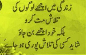 urdu dp on life translated in English