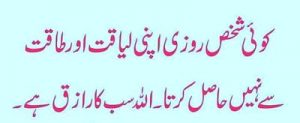 islamic quotes in urdu on life