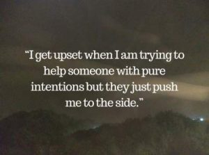 feeling upset status