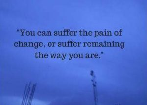 pain for change status quotes