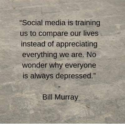 anti social media status quotes by Bill Murray