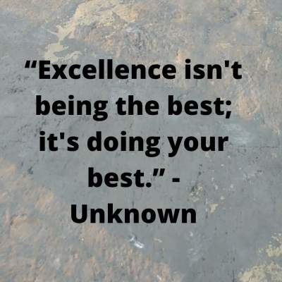 best excellence status quotes