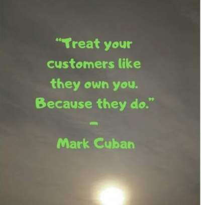 business quotes on customers by Mark Cuban