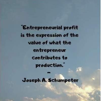 entrepreneurial profit quotes