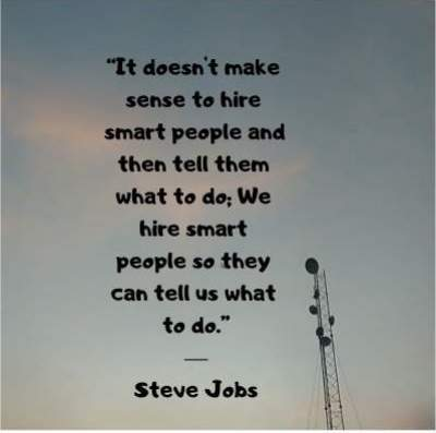 entrepreneur quotes on employees by Steve Jobs