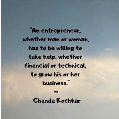 entrepreneur quotes on success by Chanda Kochhar