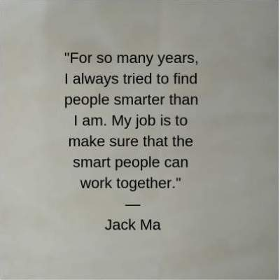 jack ma quotes on teamwork