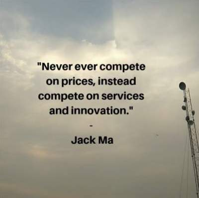 quotes on pricing in marketing by Jack Ma