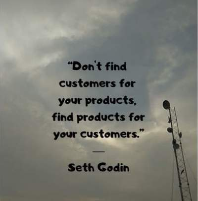 quotes on product marketing by Seth Godin