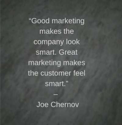 smart marketing quotes by Joe Chernov