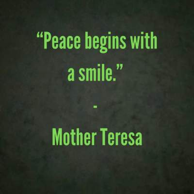 peace smile quotes by Mother Teresa