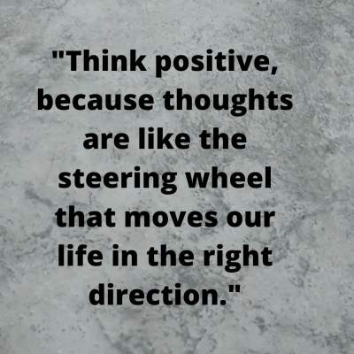 think positive status quotes