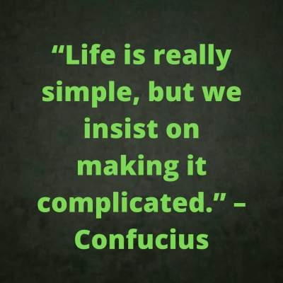 life is simple quotes