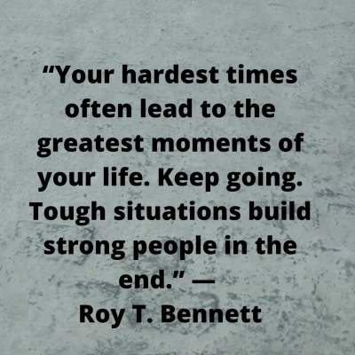 inspirational life quotes on hard times and hardship