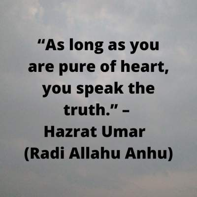 Hzrat Umar quotes about speaking the truth