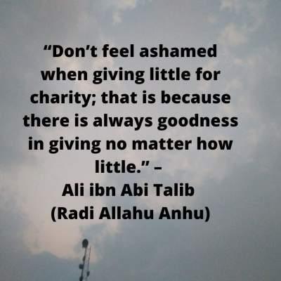 ibn abi talib quotes on charity